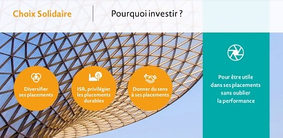Vidéo : Investir utile sans oublier la performance... Découvrez Choix Solidaire !