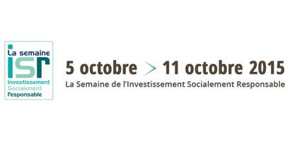 Le ministère des finances soutient la semaine de l'ISR